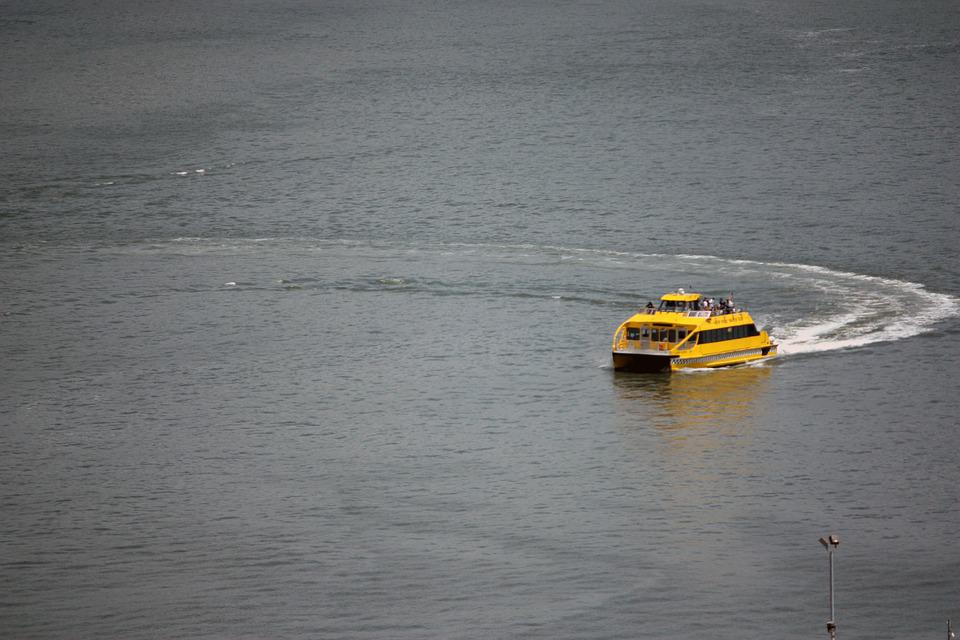 Water Taxi, East River, Taxi, Usa, Nyc, River, City