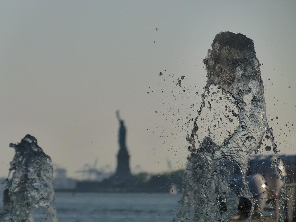 New York, Nyc, Statue Of Liberty, Water, Out Of Focus