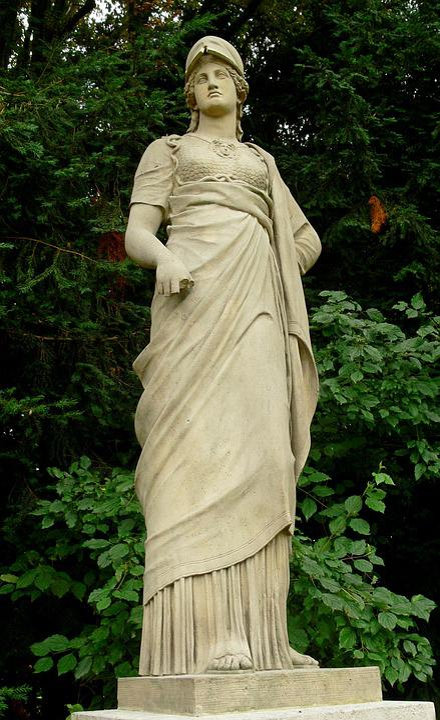 Minerva, Statue, Rocky, Nymphenburg, Palace, Munich