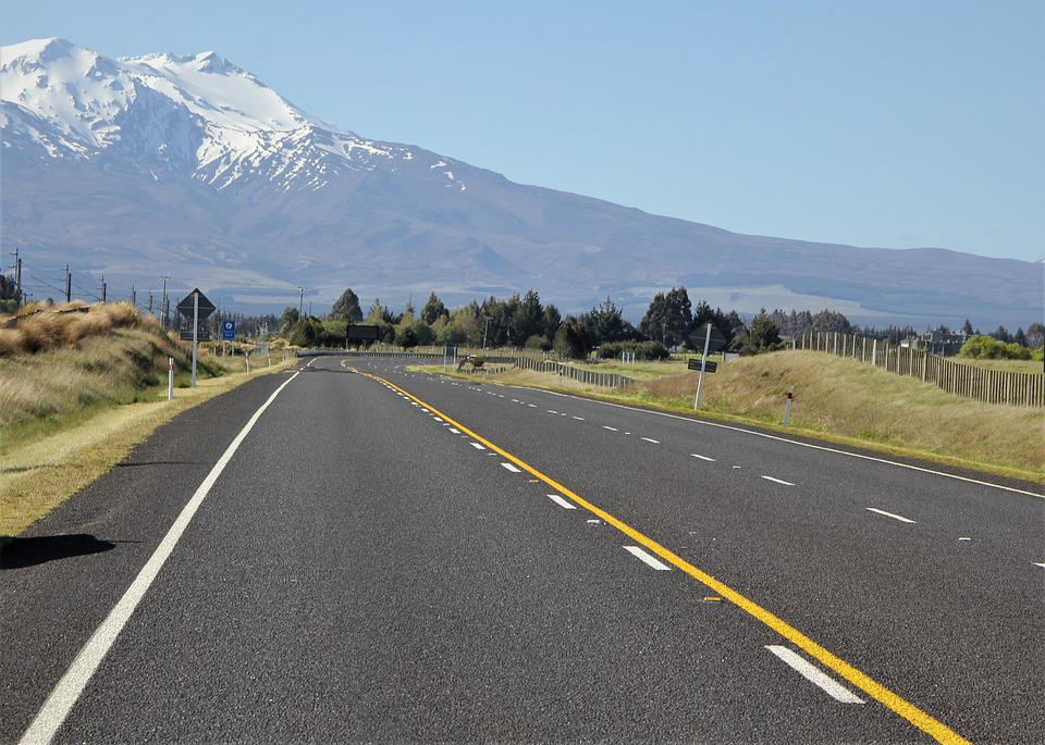 Open, Road, Ahead, Wide, Narrow, Nz, New, Zealand