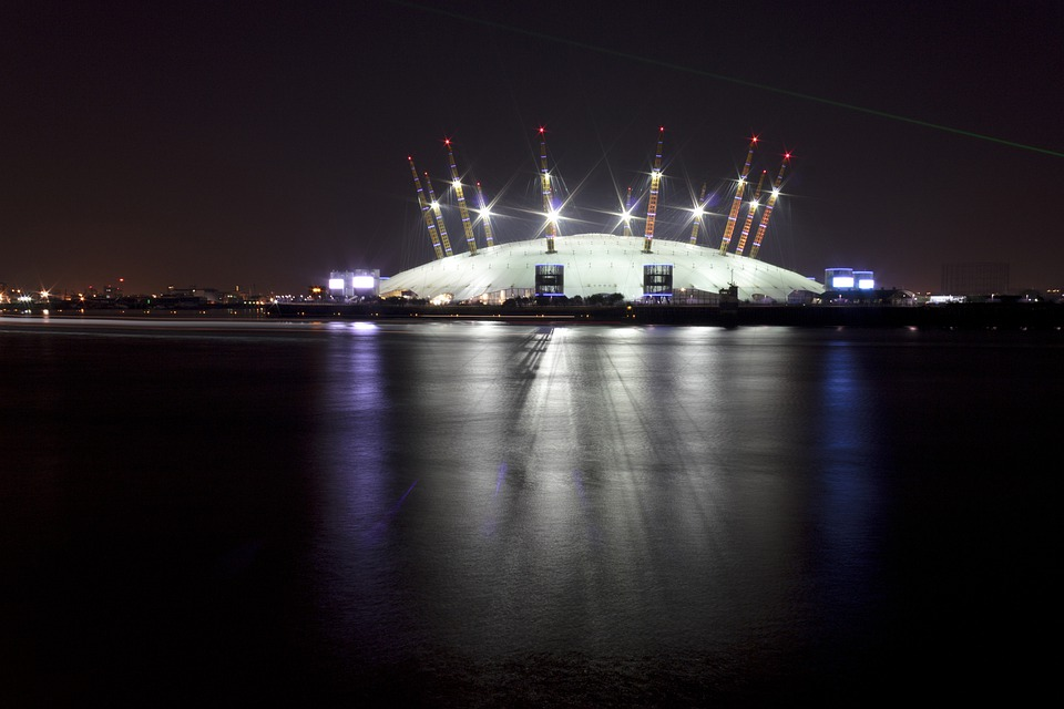 O2, Thames, London, Architecture, River, Sky, Arena