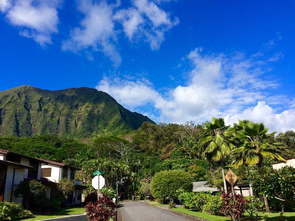 Hawaii, Oahu, Mountain, Sky, Paradise, Scenic, Windward