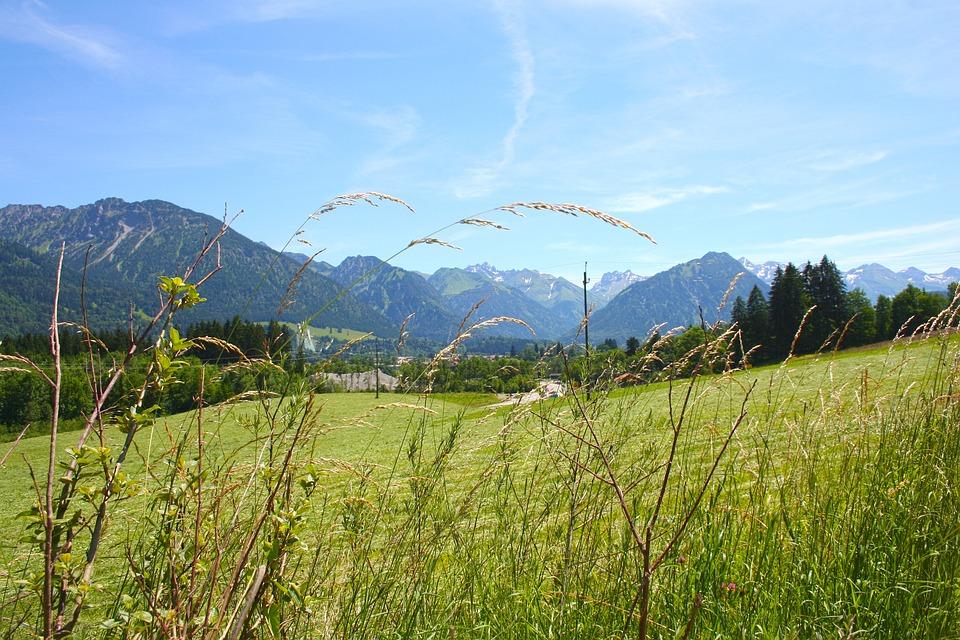 Allgäu, Bavaria, Oberstdorf, Panorama, Mountains