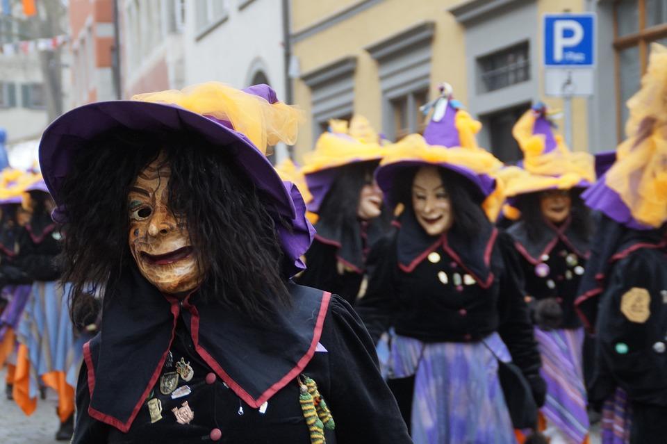 Witches, Oberzell, Strassenfasnet, Fools Jump