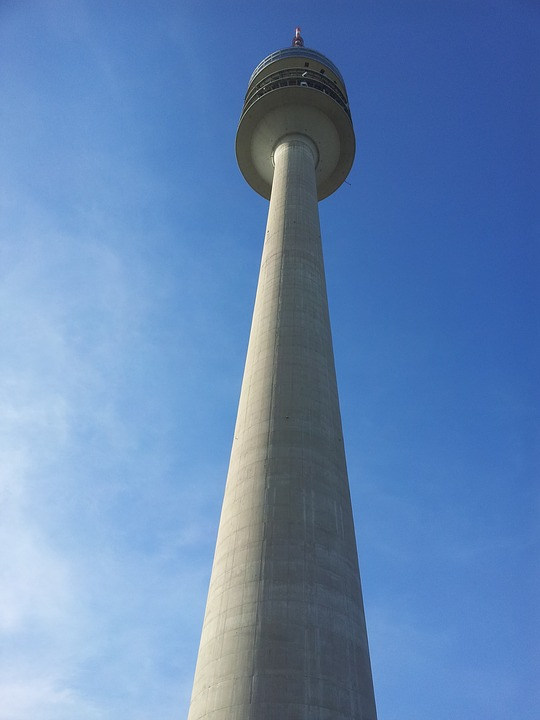 Olympia Tower, Sky, Blue, Observation Tower, Munich