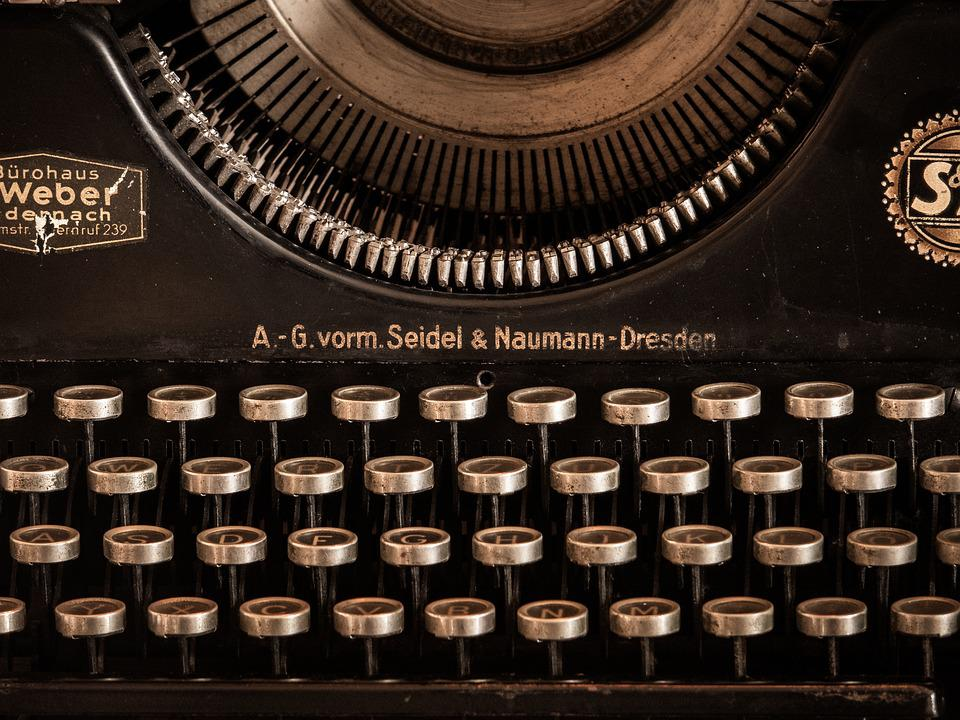 Typewriter, Antique, Obsolete, Old
