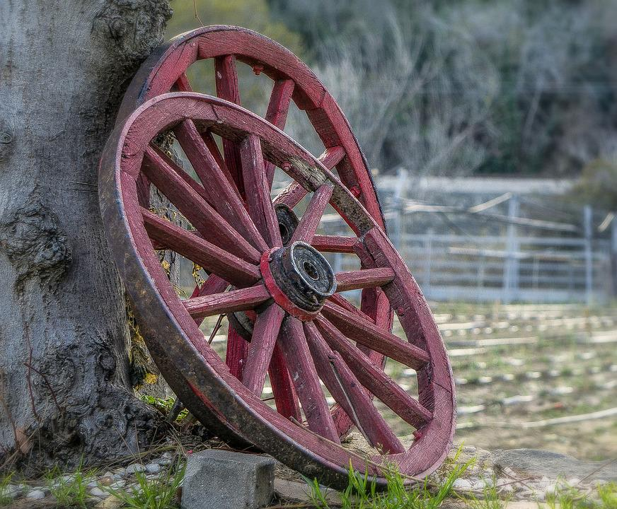 Wheels, Old, Obsolete, Transport, Transportation, Wood