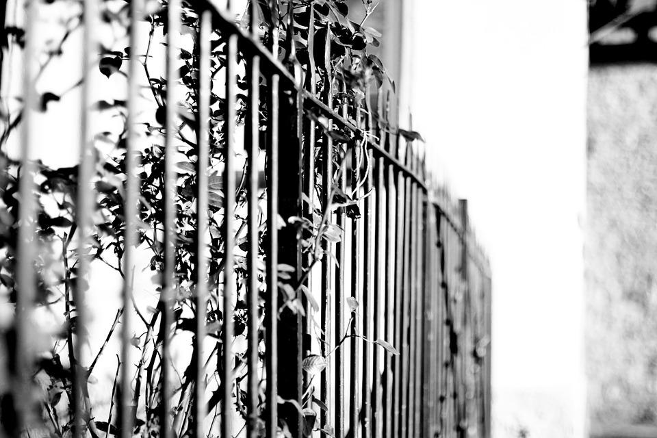 Fence, Black White, Castle, Obstacle