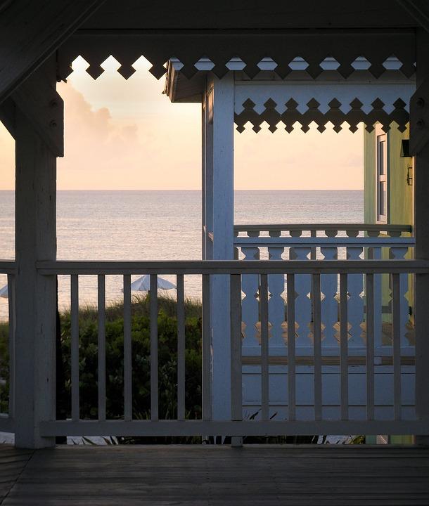 Sea, Balcony, Ocean, Summer, Veranda, Nature
