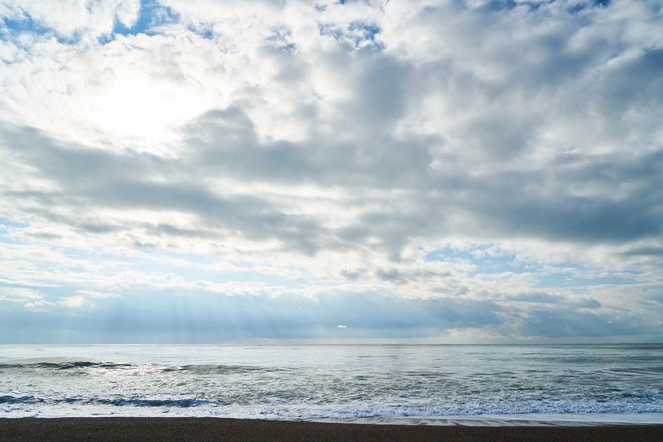 Landscape, Marine, Ocean, Background, Clouds, Beach