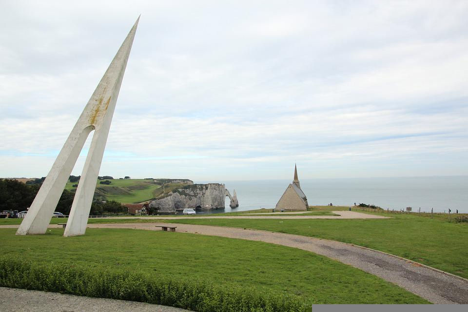 Memorial, Church, Coast, Beach, Remind, Rocks, Ocean