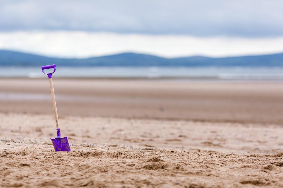 Beach, Shovel, Toy, Sand, Coast, Ocean, Vacation, Sea