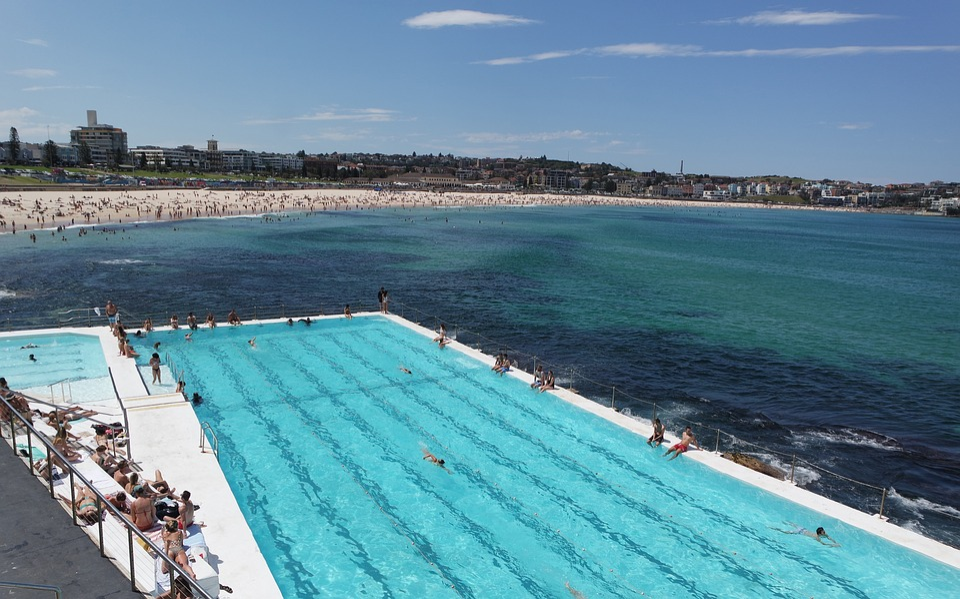 Ocean, Pool, Beachfront, Seaside, Relaxing, Swimming
