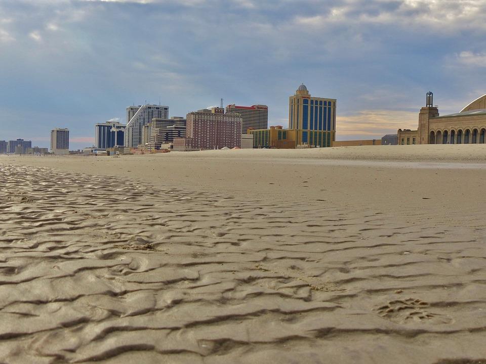 Atlantic, City, Ocean, Boardwalk, Hotels, Casino