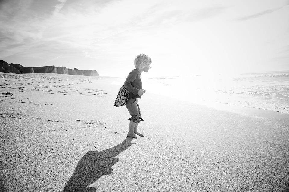Ocean, Shadows, San Francisco, California, Beach, Sand