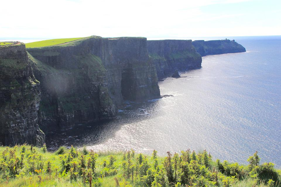Cliffs Of Moher, Ireland, Landscape, Ocean, Cliff