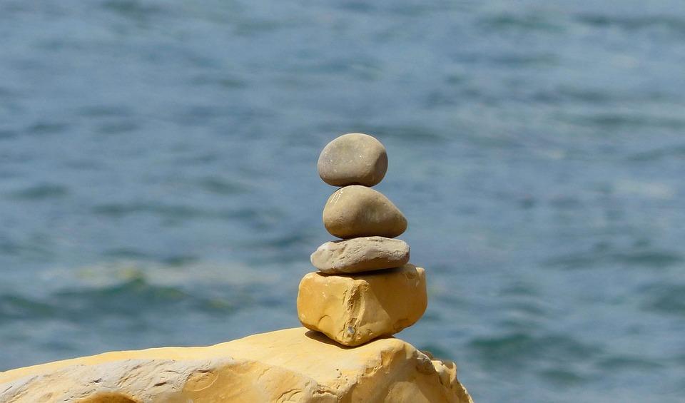 Stones, Pebbles, Rocks, Stacked, Stacking, Coast, Ocean