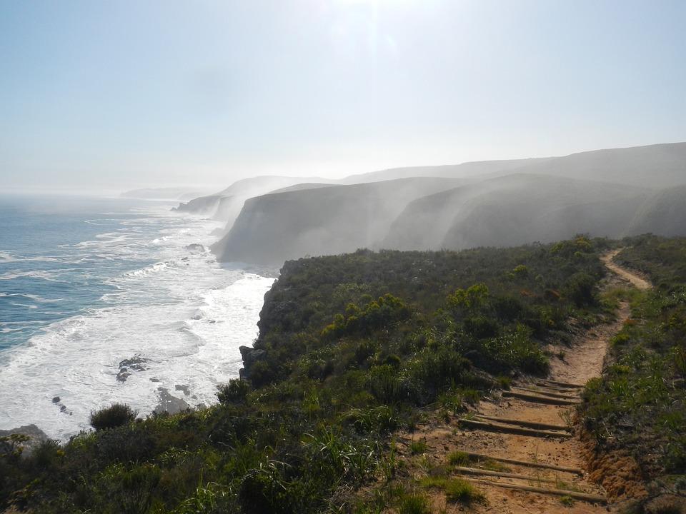 Mist, Sea, Ocean, Mountain, Coast, Landscape, Water