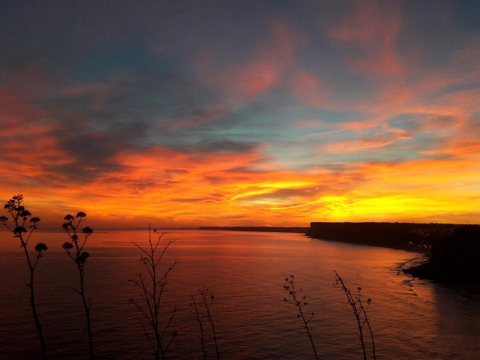Sunset, Algarve, Lagos, Sea, Coast, Portugal, Ocean
