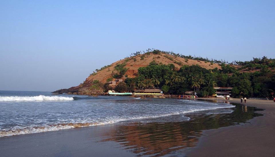 Sea, Arabian, Beach, Sky, Ocean, Water, Hill, Coastline