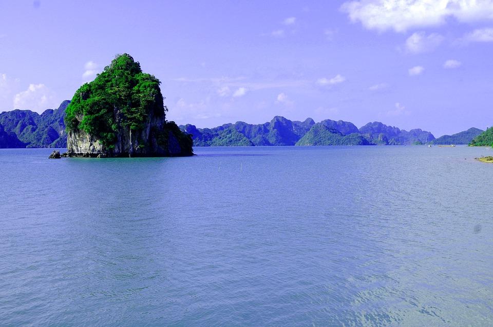 Ocean, Island, Karst, Sky, Blue Sky, Peaceful