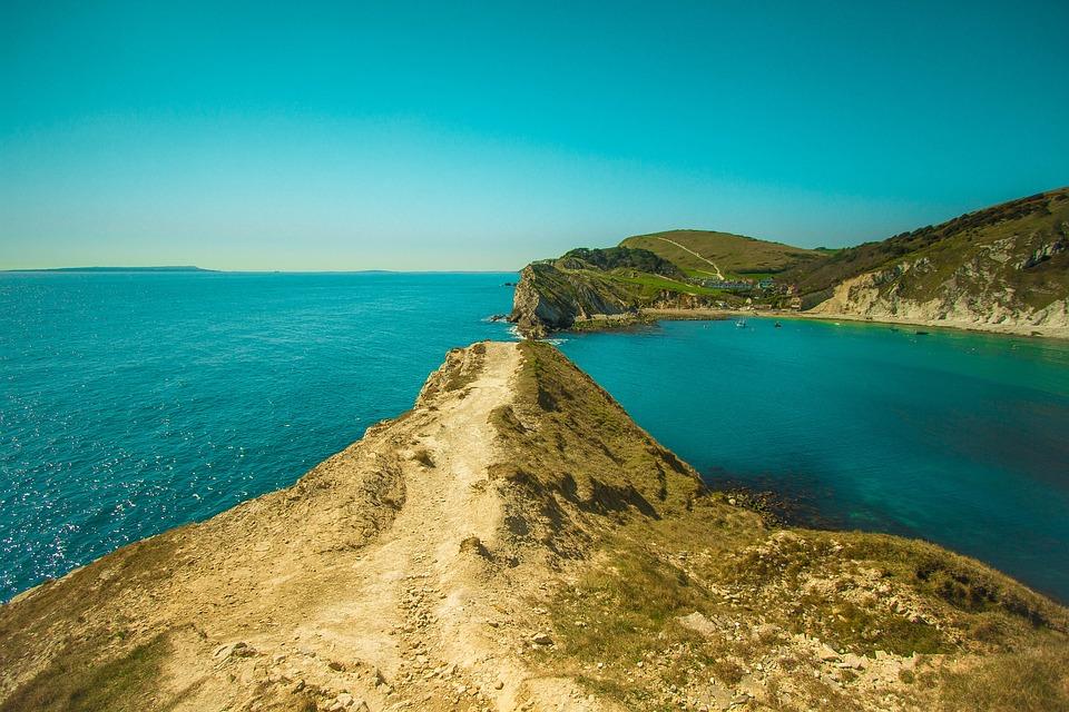 Lulworth Cove, Ocean, Laguna, Dorset