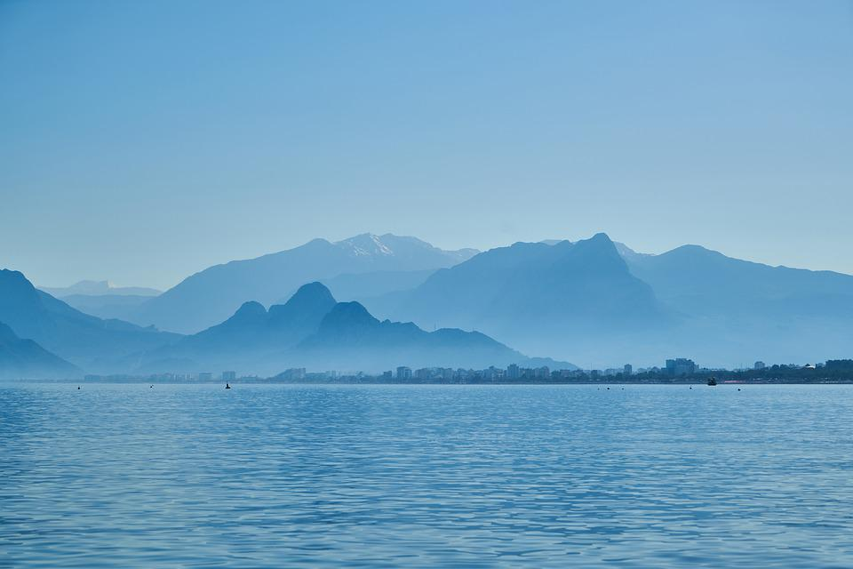 Mountain, Ocean, Landscape, Marine, Mountains, Wave