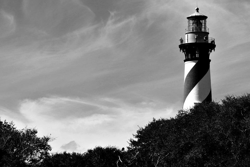 Lighthouse, Historic, Landmark, Sky, Ocean, Tourism