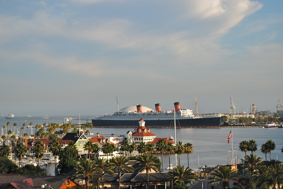 Queen Mary 2, Long Beach, California, Ocean Liner
