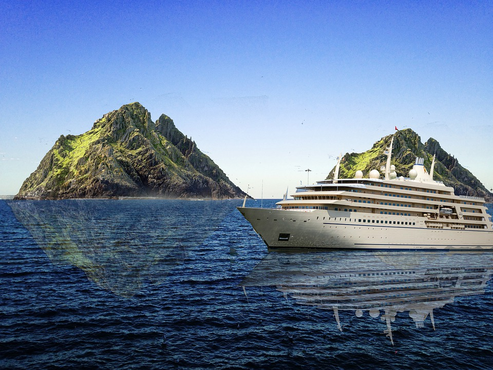 Ship, Sail, Mountains, Ocean, Water, Vacation, Sky