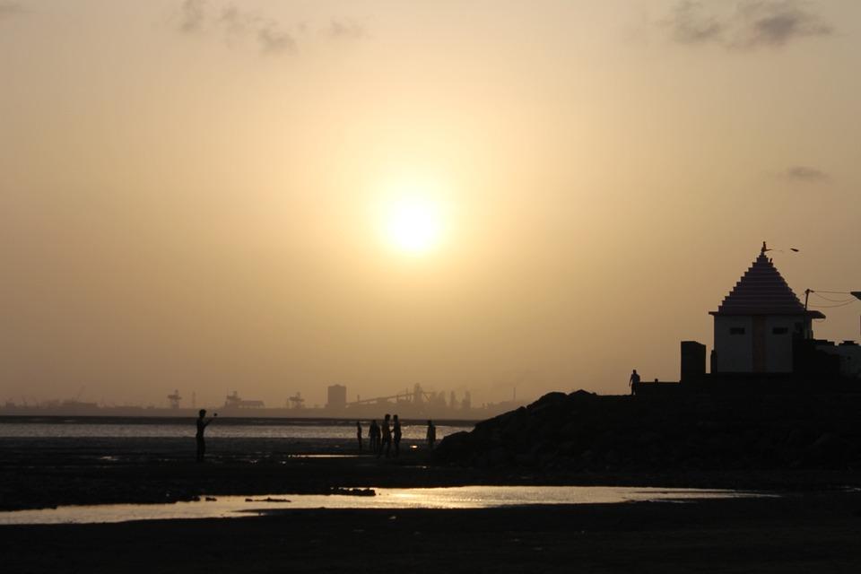 Beach, Sea, Temple, Sunset, Asia, Summer, Ocean, Nature