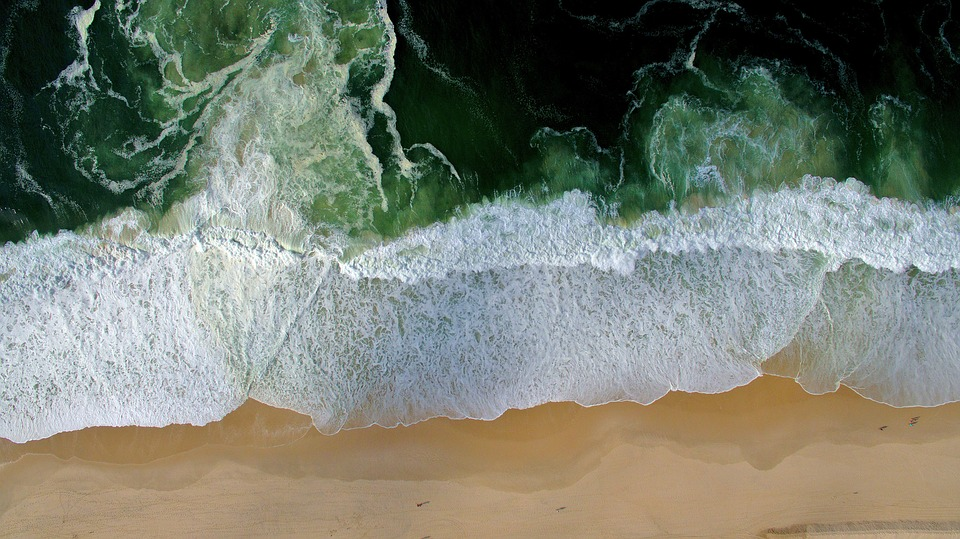 Nature, Ocean, Sea, Shore, Water, Top View, Beach