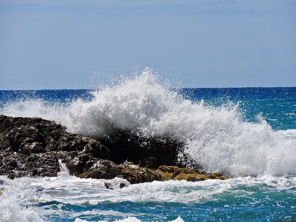Sea, Spray, Water, Wave, Ocean, Inject, Foam, Power