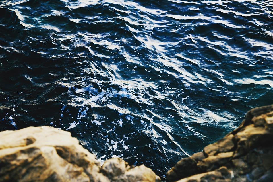 Nature, Water, Ocean, Sea, Waves, Ripples, Splash