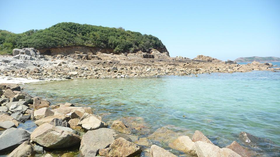 Beach, Bank, Rock, Sea, Ocean, Landscape