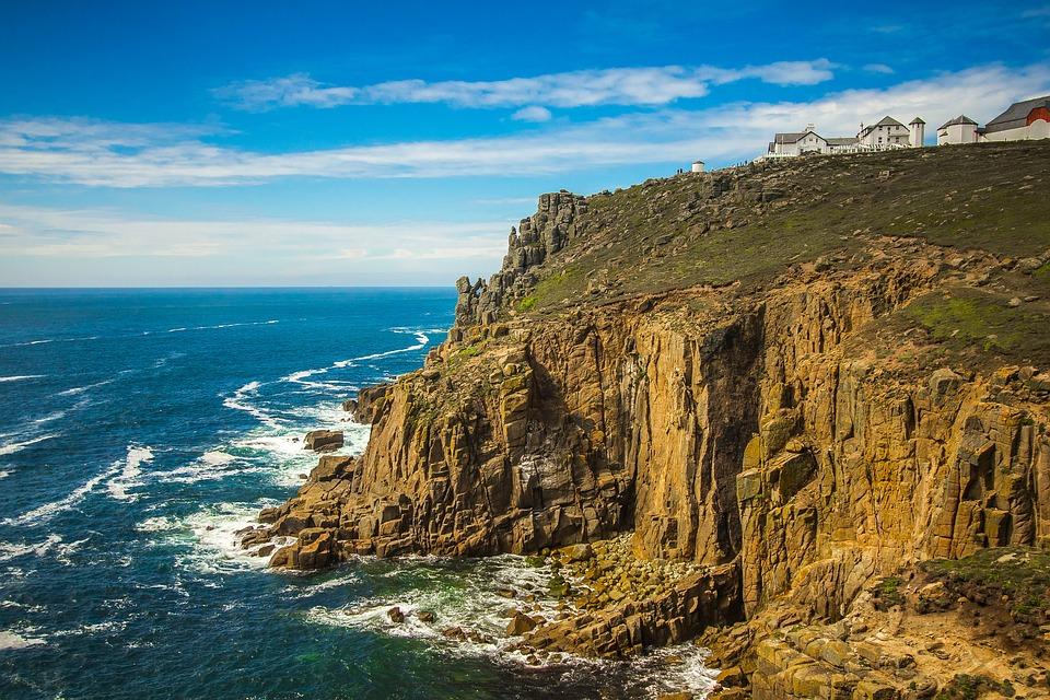 Land's End, Rock, Ocean, Cornwall