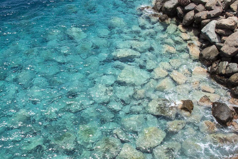 Lazur, Ocean, Rocks