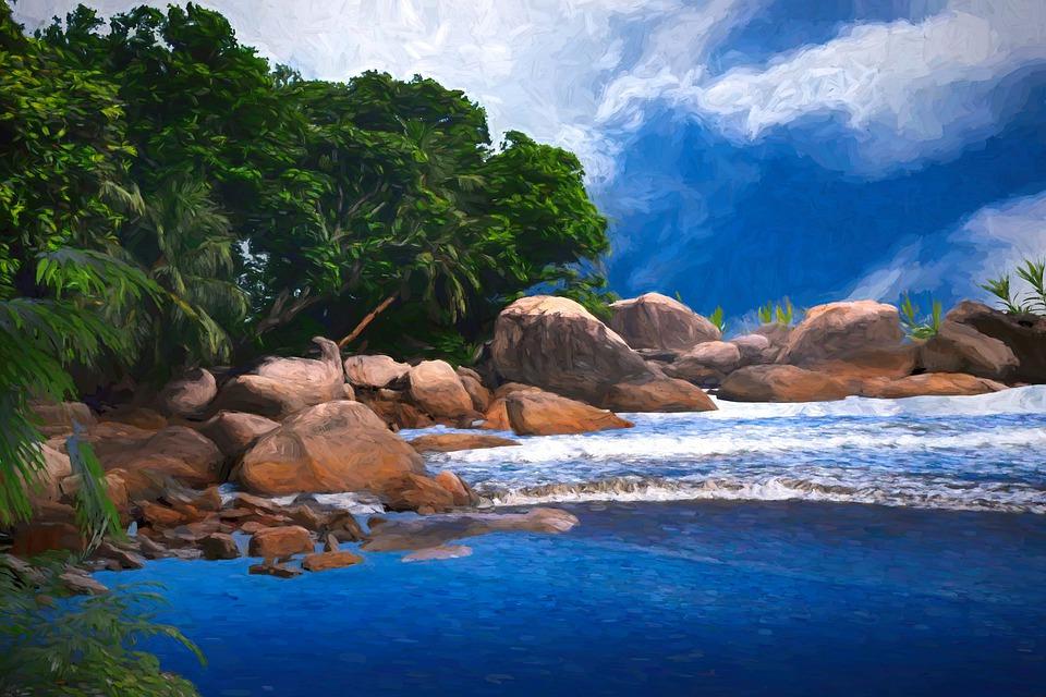 Sea, Cove, Coast, Ocean, Rocks, Nature, Stones, Water