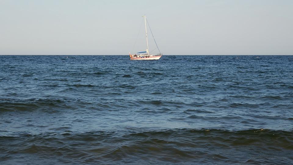Sea, Ship, Sailing, Boat, Ocean, Horizon