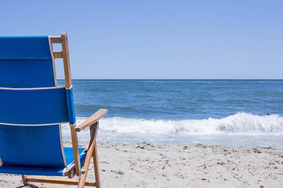 Beach, Sand, Ocean, Chair