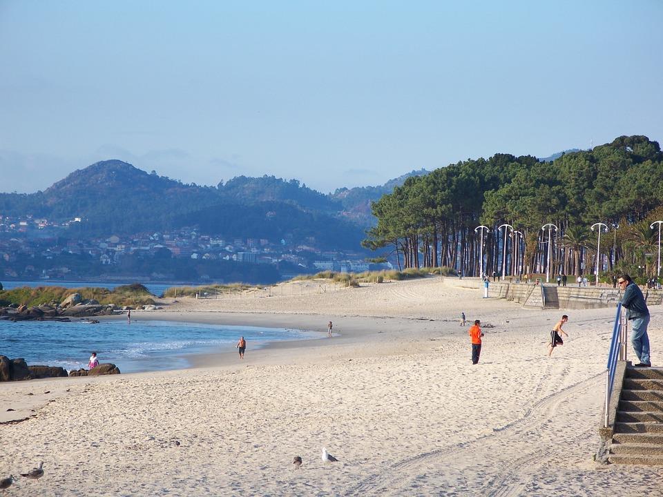 Beach, Ocean, Sand, Sandy, Trees, Mountains, Coast, Sun