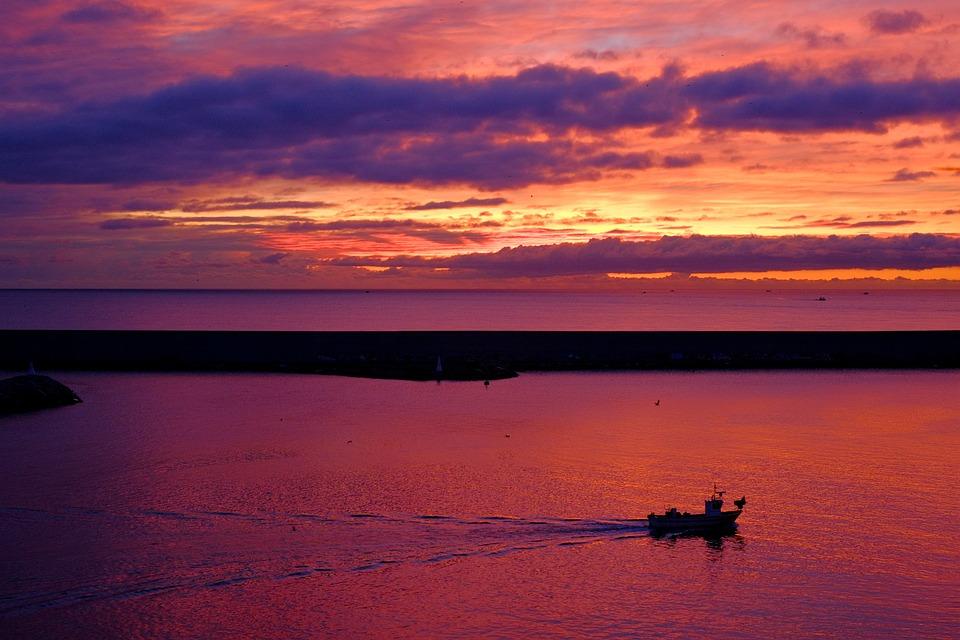 Sea, Water, Ocean, Sun, Sunrise, Sunlight, Beautiful