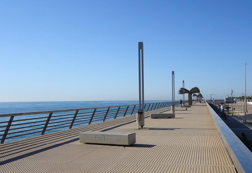 Walk, Sea, Holiday, Ocean, Blue, Metal, Walk Marine