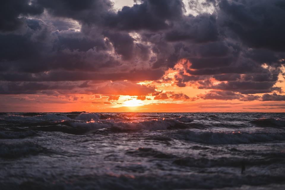 Sunrise, Beach, Sea, Ocean, Sky, Nature, Landscape