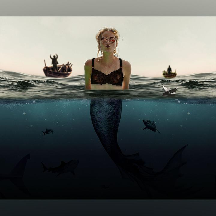 Mermaid, Sea, Water, Fantasy, Woman, Underwater, Ocean