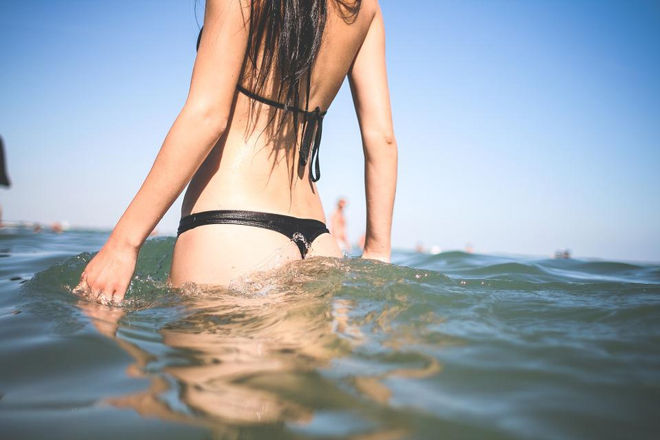 Bikini, Swimming, Sea, Lake, Ocean, Girl, Summer, Beach