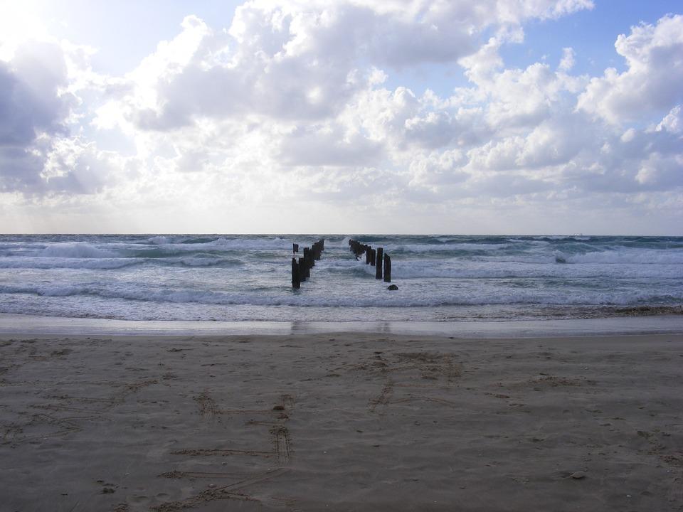 Shore, Sandy Beach, Cloudy, Ocean, Sea, Beach, Seascape