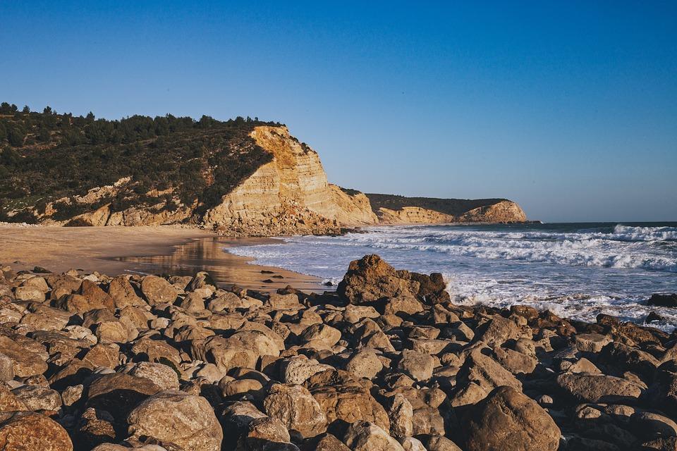 Beach, Empty, Ocean, Sand, Coast, Shore, Landscape
