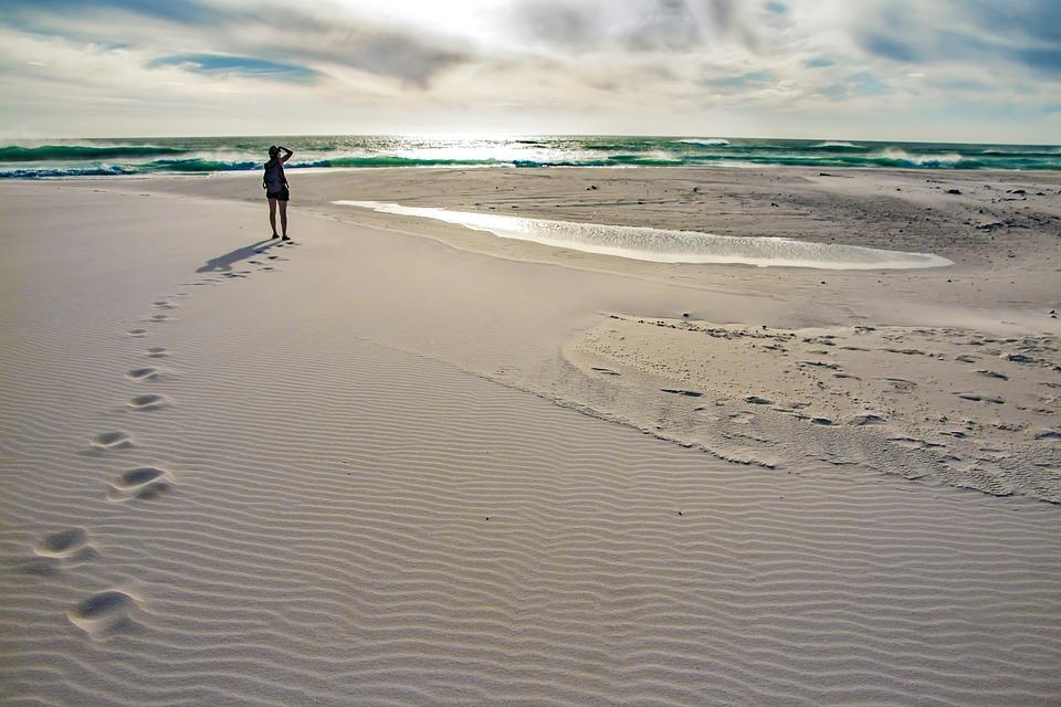Beach, Sunset, Ocean, Summer, Twilight, Sky, Water