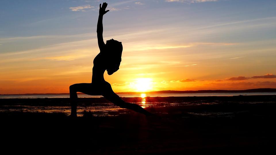 Sunset, Yoga, Ocean, Maree Basse, Sea, Zen, Nature